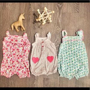 3 pc Summer Romper bundle 9 months